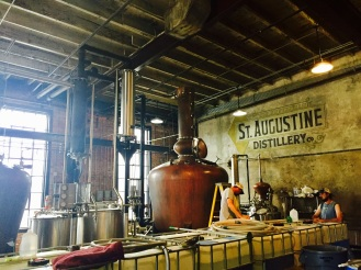 St. Augustine Distillery production room in renovated ice plant from 1907